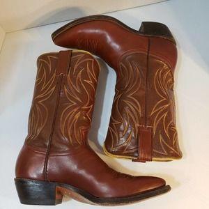 Vintage Justin Western Cowboy Boots size 8D